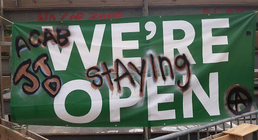 "Photo from Camp JTD: ""We're Staying Open!"""